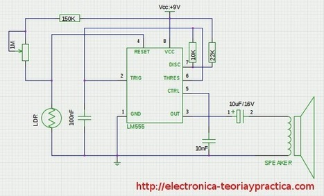 Circuito 555 utilizado como sensor crepuscular | tecnologiaeso | Scoop.it