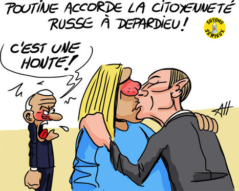 Poutine accorde la citoyenneté russe à Depardieu | Baie d'humour | Scoop.it