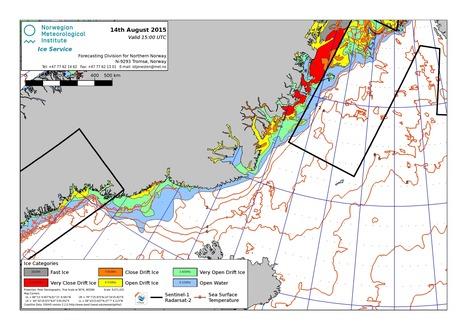 #Groenland nord-est : #carte des glaces du 14 août #banquise | Hurtigruten Arctique Antarctique | Scoop.it