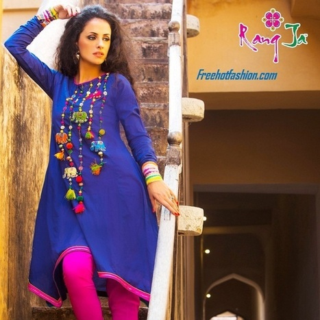 Rang Ja Spring Summer Beautiful Dresses 2013 for Women | Free Hot Fashion | Stylish Lawn Prints | Scoop.it