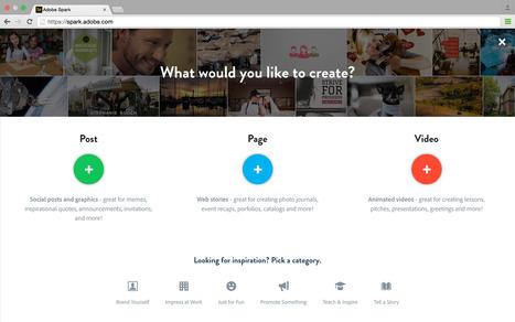 Adobe lance Spark, un outil gratuit pour créer des images et des vidéos pour les réseaux sociaux | Actualité Social Media : blogs & réseaux sociaux | Scoop.it