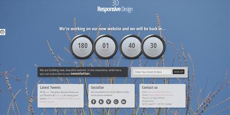 Templates HTML : 15 Templates HTML CSS pour créer votre page Coming Soon - template-html | Good stuff online | Scoop.it