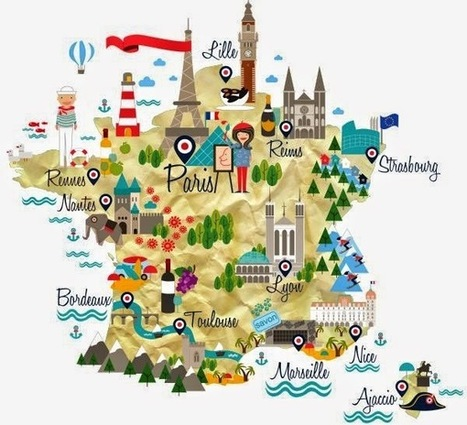 Trois belles cartes de France | Remue-méninges FLE | Scoop.it