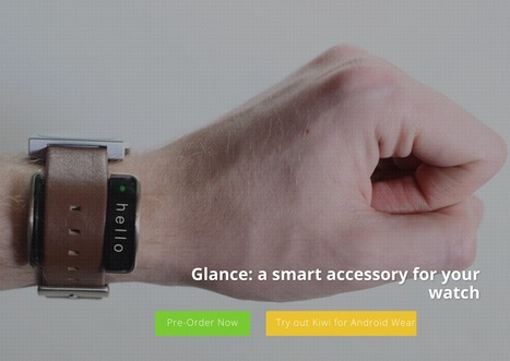 Glance: a smart accessory for your watch | Technologie Au Quotidien | Scoop.it