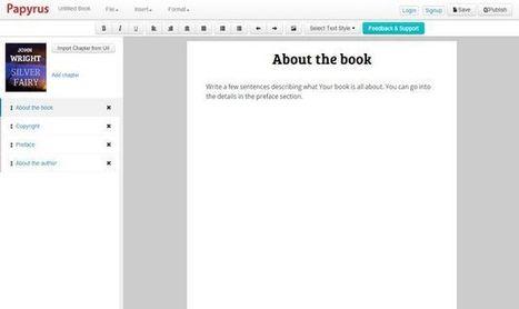 Papyrus Editor, una plataforma online para escribir y publicar tus propios eBooks | La psicoeducadora | Scoop.it