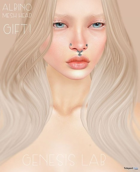 Albino Mesh Head 2.0 Tres Chic Gift by Genesis Lab | Teleport Hub - Second Life Freebies | Second Life Freebies | Scoop.it