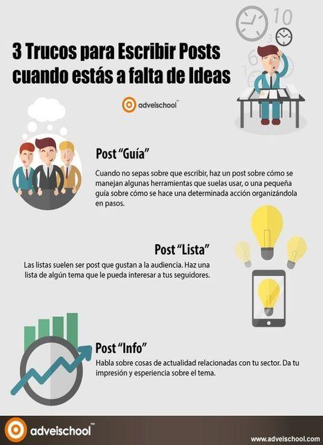 3 buenos trucos para escribir posts cuando te faltan ideas (infografía) | Educacion, ecologia y TIC | Scoop.it