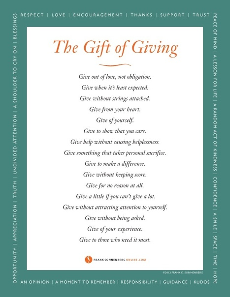 The Gift of Giving | The Mindset for the 21st Century | Scoop.it