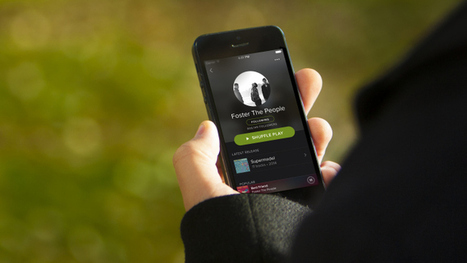 Spotify Goes Over To The Dark Side With A New Makeover | TechCrunch | Music Industry | Scoop.it