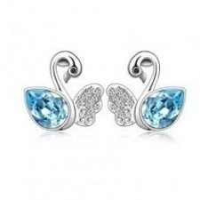 Wholesale Discount Lovely Crystal Swan Stud Earrings R029-40 | fashion and cheap jewelry | Scoop.it