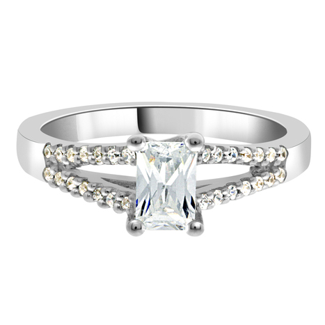 Layla Radiant Cut Engagement Ring -Loyes Diamonds dublin in white gold | Engagement rings Dublin Blog. | Scoop.it
