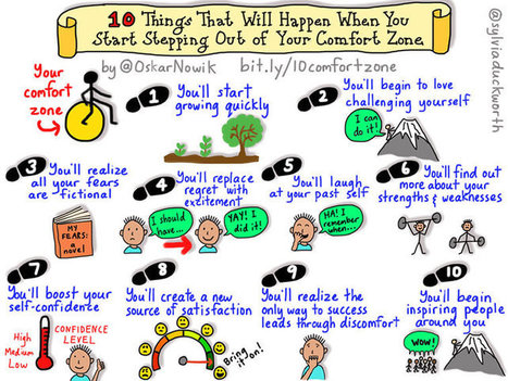 What Happens When You Start Stepping Out Of Your Comfort Zone - | Graphic Facilitation and Sketchnoting | Scoop.it