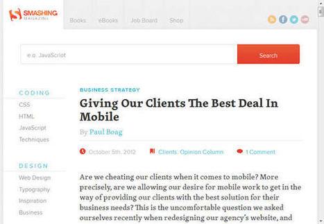 Responsive design, quels bénéfices pour les éditeurs de site web ?   SMO2 by Oxygène Communication   Scoop.it