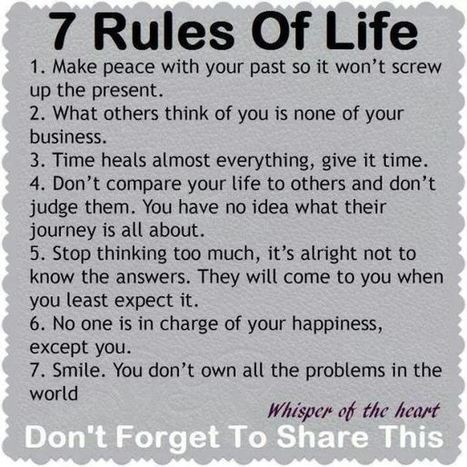 7Good Rules of Life | from around the web | Scoop.it