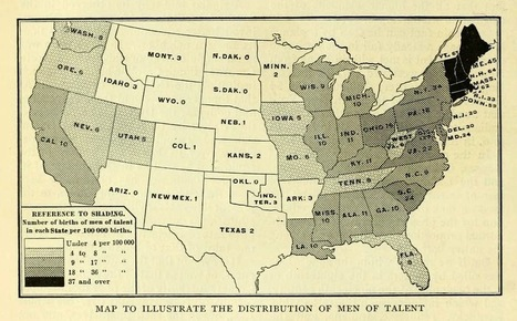 A Map of Intellectual Talent in the Early-20th-Century United States   Humanidades digitales   Scoop.it
