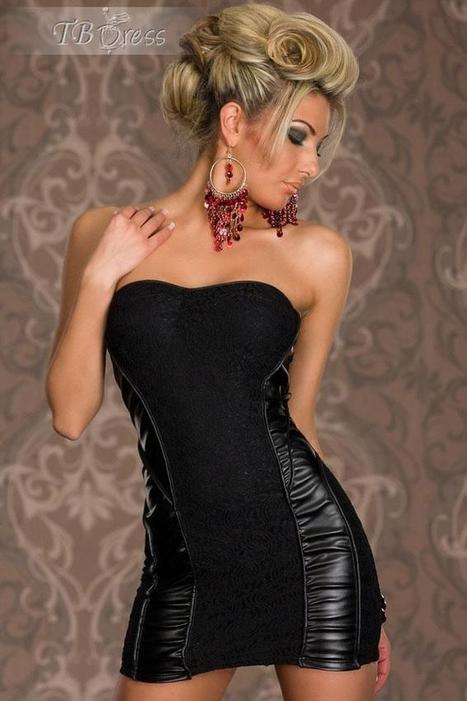 Black Bandeau Lace Party Dress   fashion numbleone   Scoop.it