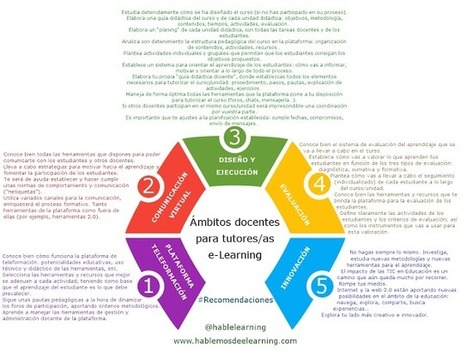 5 Ámbitos docentes para tutores/as #eLearning #Recomendaciones #Infografía | Educación y TIC | Scoop.it