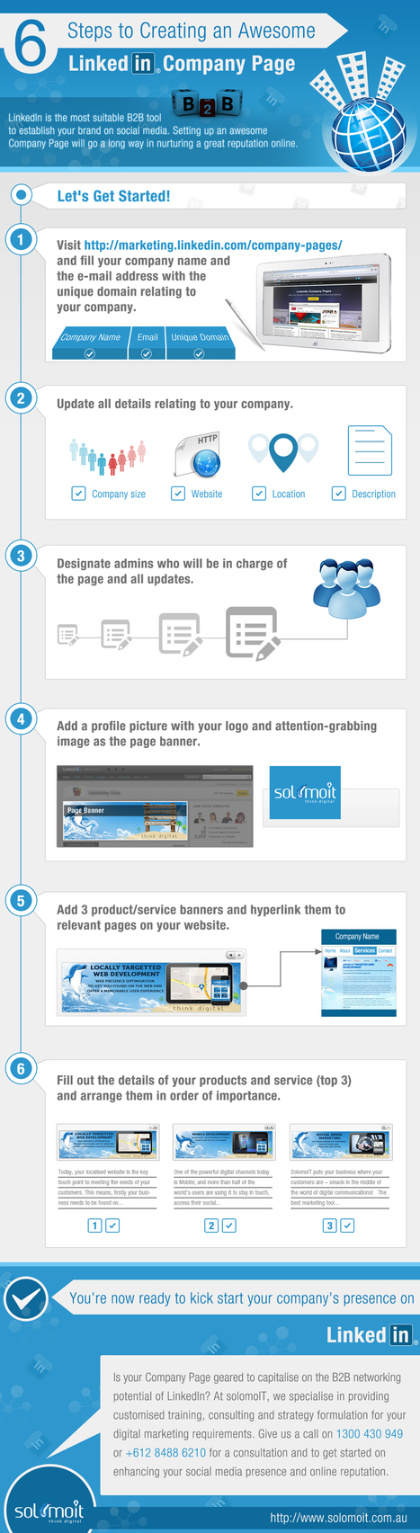 6 Tips to an Amazing LinkedIn Company Page - solomoIT Academy | web design and seo | Scoop.it