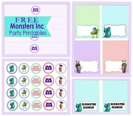 DIY (Girly) Monsters Inc Party + Free Printables | Crafts and DIY | Scoop.it