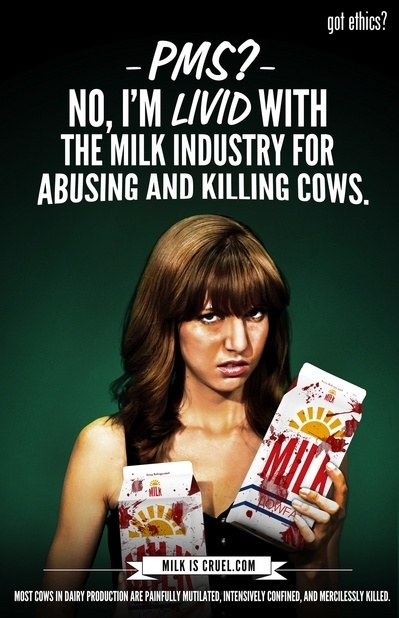 Got Ethics? New MFA Anti-Milk Parody Ad Takes On Dairy Industry's Sexist PMS Marketing Campaign - MFA Blog | Nature Animals humankind | Scoop.it
