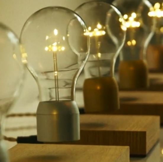 These Wireless Lightbulbs Float in the Air and Can Last for 22 Years