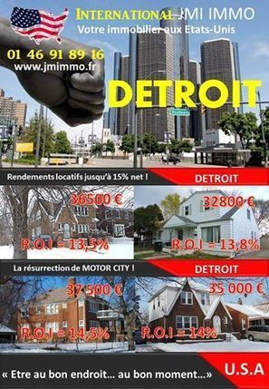 Recevez nos meilleures offres à DETROIT en cliquant ICI | Real estate USA | Scoop.it