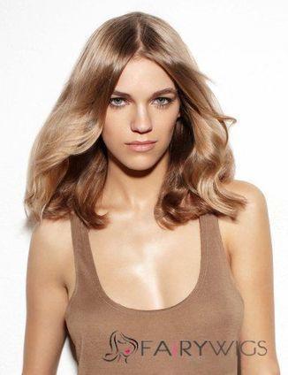 Glamorous Full Lace Medium Wavy Blonde Hair Wig : fairywigs.com | Hair Extensions | Scoop.it