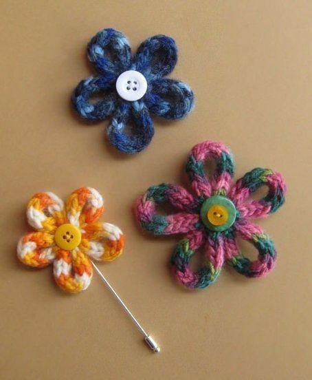 Cómo hacer flores con lana | Teje-Lola | Scoop.it