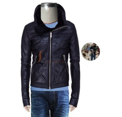Oversize Spread Collar Leather Jacket - Orlando Bloom - Men Celebrity Jackets | Unique collection of celebrity jackets its now | Scoop.it