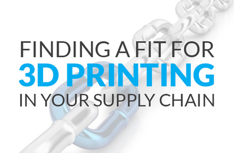 Finding a fit for 3D Printing in your supply chain | 3D Engineering | Scoop.it