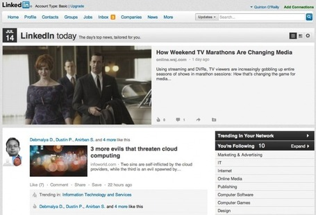 LinkedIn Today Further Refined By Adding Comments & Network Trending | MarketingHits | Scoop.it
