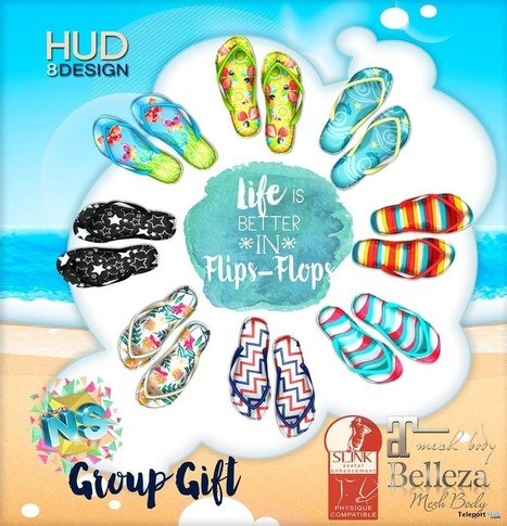 Life Is Better In Flips-Flops Group Gift by NS | Teleport Hub - Second Life Freebies | Second Life Freebies | Scoop.it