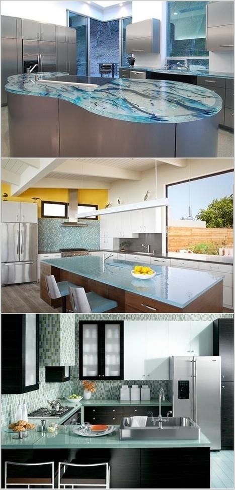 Stylish and Elegant Kitchen Countertop Design Ideas   Home Decorating Guru   Kitchen Benchtops   Scoop.it