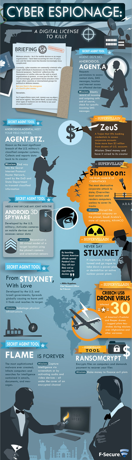 Here's Enough Digital Espionage to Scare James Bond [INFOGRAPHIC] | Criminology and Economic Theory | Scoop.it