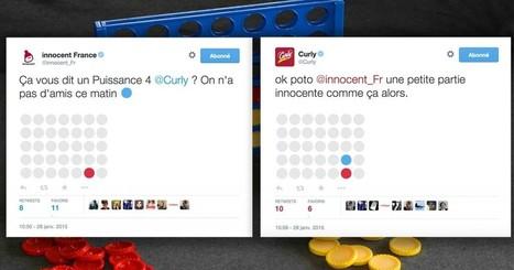 Quand les community managers de Curly et d'Innocent improvisent un puissance 4 sur Twitter | the web: design, E-skills & news | Scoop.it