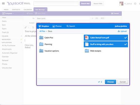 Yahoo Mail : intégration de Dropbox pour les pièces jointes | Astuces | Scoop.it