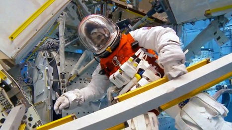 Watch NASA test its new 'pumpkin' spacesuit in underwater lab | The universe | Scoop.it