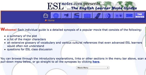 ESLnotes.com - The English Learner Movie Guides   English Language Teaching   Scoop.it