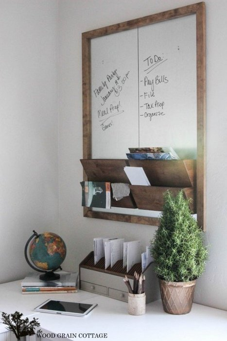 18 Great DIY Office Organization and Storage Ideas - Style Motivation   Comercial Organizing   Scoop.it