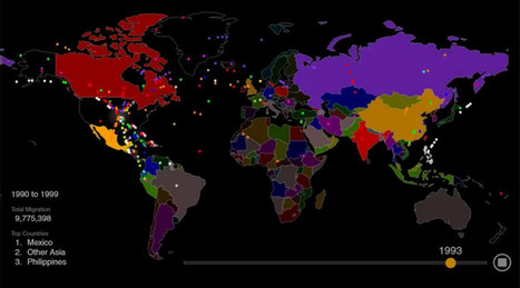 Hypnotic animated map shows 200 years of US immigration in 1 minute (VIDEO) | ♡ James & Mary ♡ | Scoop.it