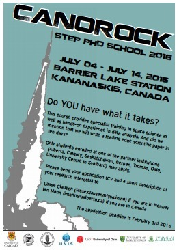 3rd CaNoRock Step PhD School; July 4th -  14th in Kananaskis, Canada | Space Conference News | Scoop.it