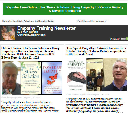 Aug 8, 2016: Empathy Movement News: Transforming Stress, Anxiety and Fear with Empathy   Changing World   Scoop.it