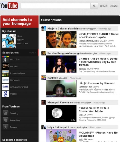 YouTube testing a new design with Google+ in mind | Entrepreneurship, Innovation | Scoop.it