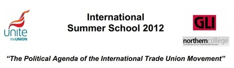 "The GLI 2012 International Summer School, on ""The Political Agenda of the International Trade Union Movement"" 