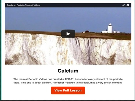 TED-Ed New Interactive Periodic Table With Video Lessons for Every Element ~ Educational Technology and Mobile Learning | Hardware and Software Trends | Scoop.it