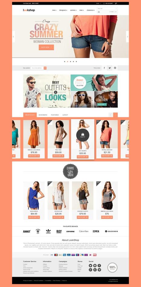 LookShop - Free Responsive PSD Template | Web Design Freebies | Scoop.it