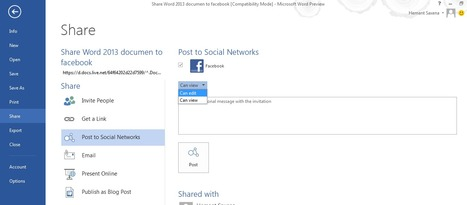How to share Word 2013 files to Facebook easily | Time to Learn | Scoop.it