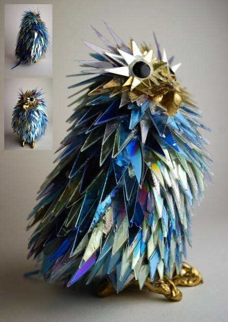 Artist Makes Stunning Sculptures from Shattered CDs | Strange days indeed... | Scoop.it