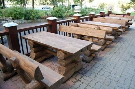 Warm musky rustic wooden furniture for your garden   Luxury garden furniture in uk   Scoop.it