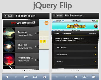 Flip – Flipboard Like Effect for jQuery & jQuery Mobile | jQuery Plugins | html5, webapp, mobility,ibooks | Scoop.it